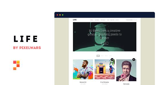 Life v1.0.7 — Boxed Portfolio WordPress Theme