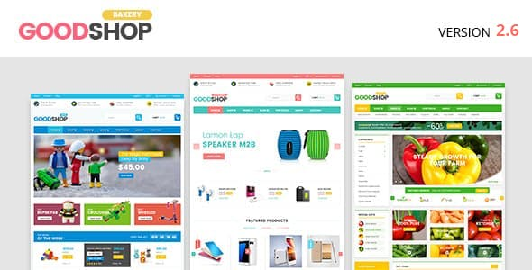 Good Shop v2.6 — Bakery Food Coffe, Fashion, Electronics and Toys