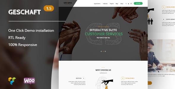 Geschaft v1.5 — Business WooCommerce WordPress Theme