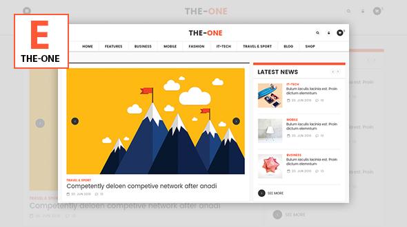The One v1.8 — News Magazine Blog WordPress Theme