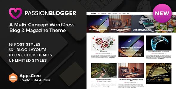 Passion Blogger v1.6 — A Responsive WordPress Theme