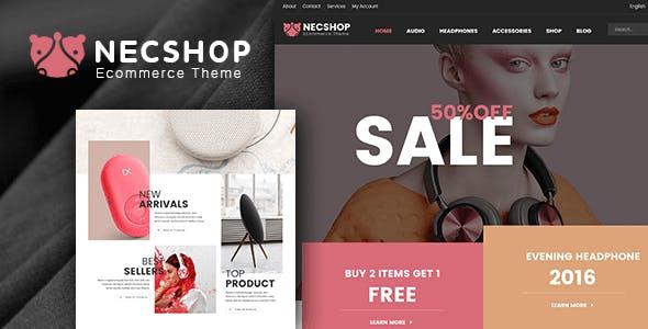 Nec Shop v1.9 — HiTech RTL Responsive WooCommerce WordPress Theme