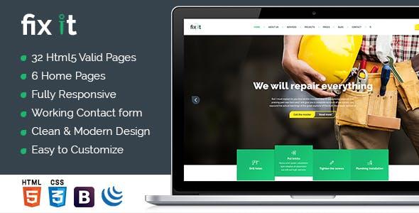 Fixit Construction — Construction HTML Template