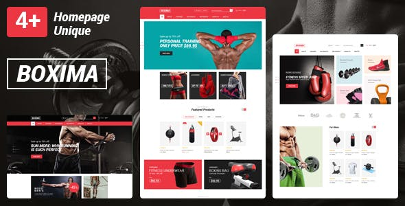 Boxima v1.0 — Sport OpenCart Theme (Page Builder Layouts)
