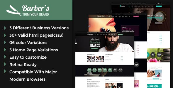Barber v1.2 — Html Template for Barbers and Hair Salon