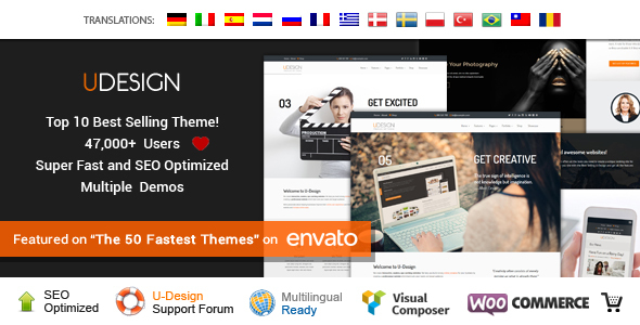 U-Design v3.2.0- Themeforest WordPress Theme