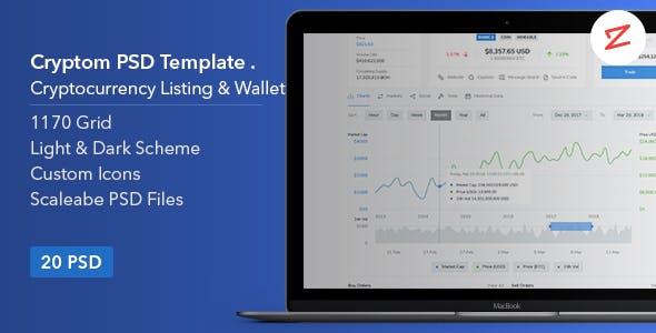 Cryptom v1.0 — Crypto Currency PSD Template
