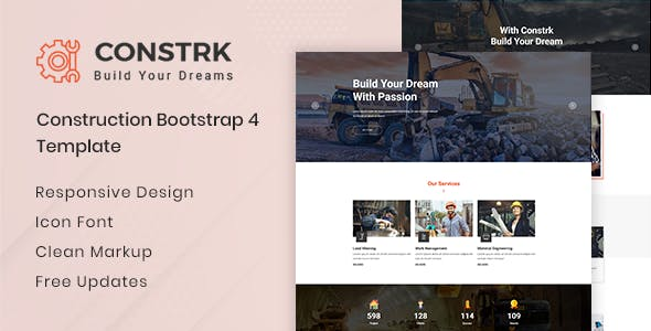 Constrk v1.0 — Construction Bootstrap 4 Template