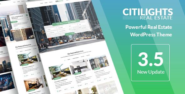 CitiLights v3.5.6 — Real Estate WordPress Theme
