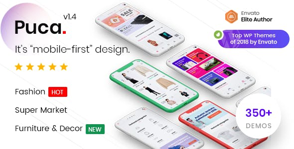 Puca v1.4.5 — Optimized Mobile WooCommerce Theme