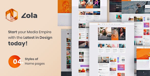 Zola v1.0 — Concept Magazine News Blogs PSD Template
