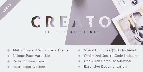 Creato v1.3 — Parallax WordPress Theme