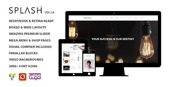 Splash v2.8 — Multipurpose WordPress Theme