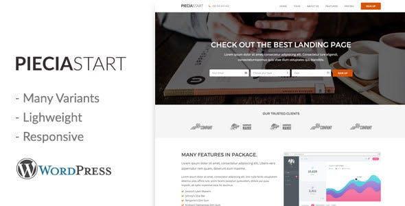 Piecia v1.0 — One Page WordPress Landing Page