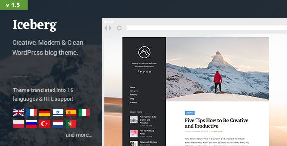 Iceberg v1.5 — Simple & Minimal Personal Content-focused