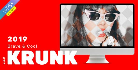 Krunk v3.1 — Brave & Cool WordPress Blog Theme