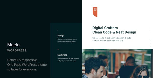 Meelo v1.2 — Corporate One Page WordPress Theme
