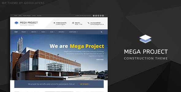 Mega Project v1.22 — Construction WordPress Theme