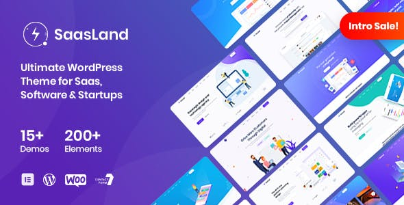 SaasLand v1.6.0 — MultiPurpose WordPress Theme for Saas & Startup