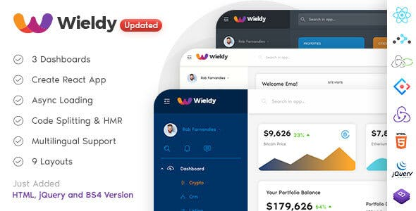 Wieldy v1.7.1 — React Admin Template Ant Design and Redux