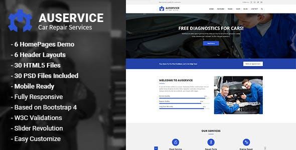Auservice v1.0 — Auto Mechanic & Auto Repair HTML5 Template