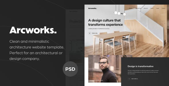 Arcworks v1.0 — Architecture Firm PSD Template