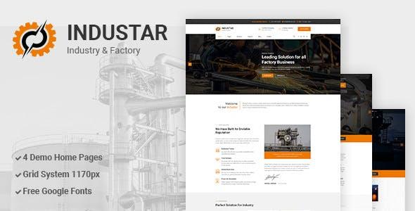 Industar v1.0 — Industry & Factory PSD Template