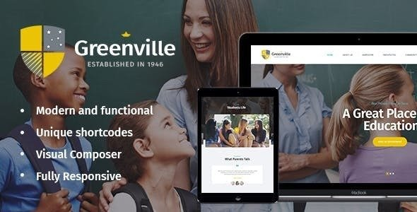 Greenville v1.3.1 — A Private School WordPress Theme