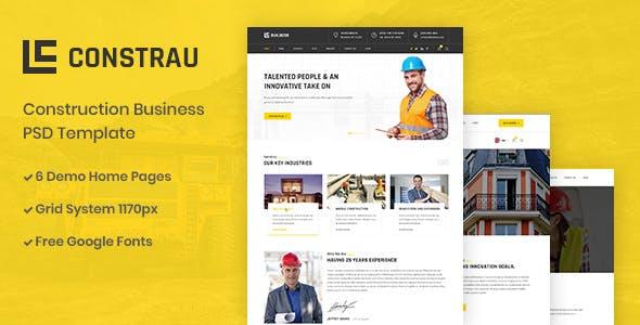 Constrau v1.0 — Construction Business PSD Template
