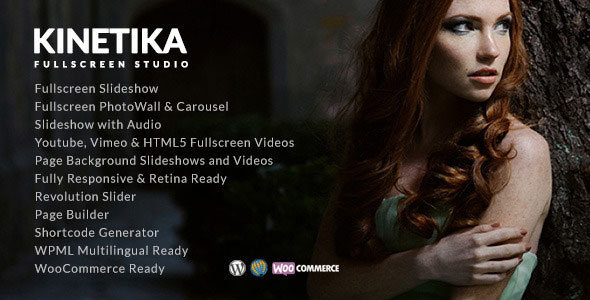 Kinetika v4.6.5 — Fullscreen Photography Theme
