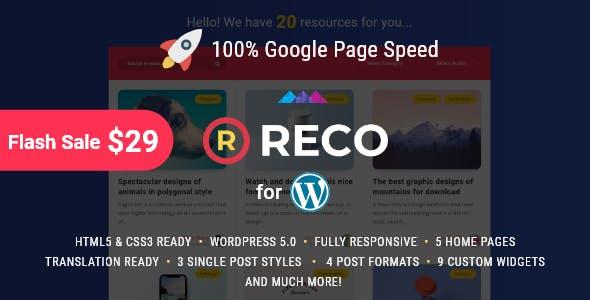 Reco v3.0.0 — Minimal Theme for Freebies