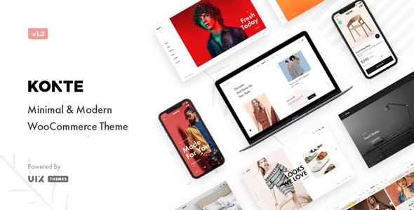 Konte v1.3.0 — Minimal & Modern WooCommerce Theme