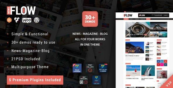 Flow News v2.0 — Magazine and Blog WordPress Theme