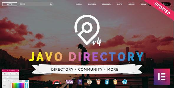 Javo Directory v4.0.9 — WordPress Theme