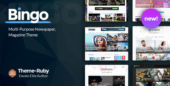Bingo v2.5 — Multi-Purpose Newspaper & Magazine Theme