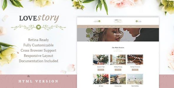 Love Story — Wedding and Event Planner Site Template