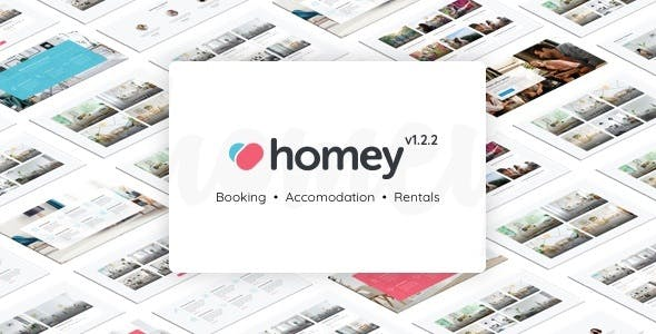Homey v1.2.2 — Booking and Rentals WordPress Theme