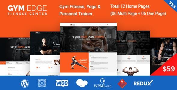Gym Edge v3.5 — Gym Fitness WordPress Theme