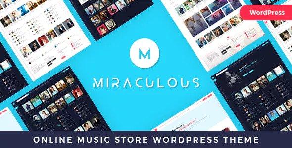 Miraculous v1.0.4 — Online Music Store WordPress Theme