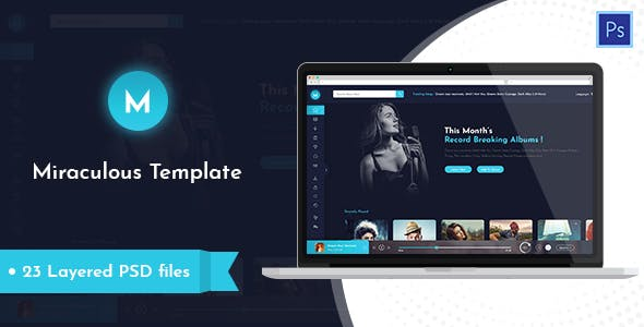 Miraculous — Music Station PSD Template