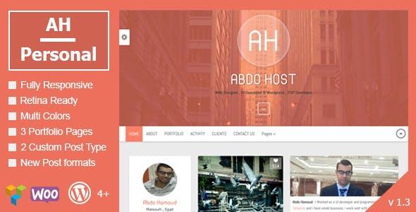 AH Personal v1.3 — Creative Resume & Blog Theme