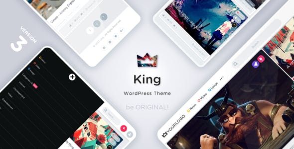 King v3.2 — News Magazine Viral Theme