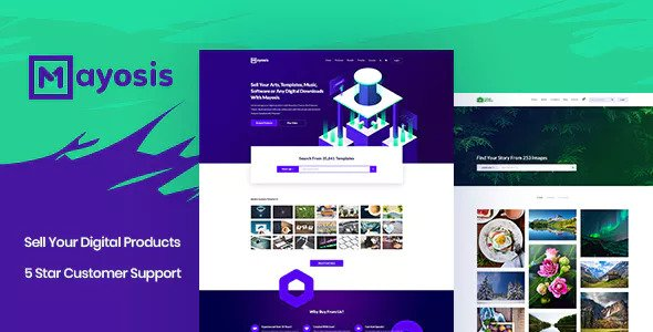 Mayosis v2.5.4 — Digital Marketplace WordPress Theme