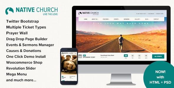 NativeChurch v3.2 — Multi Purpose WordPress Theme