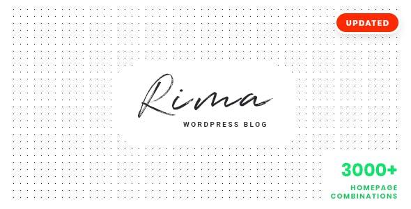 Rima v1.7.7 — Personal Blog WordPress Theme