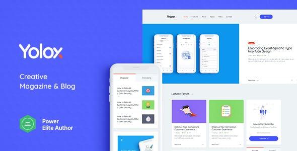 Yolox v1.0 — Modern WordPress Blog Theme for Business & Startup