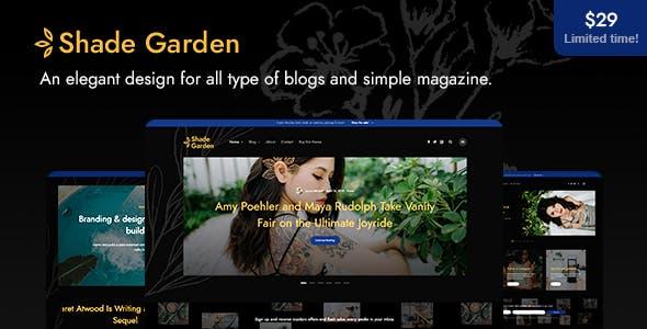 ShadeGarden v1.0 — Creative Blog WordPress Theme