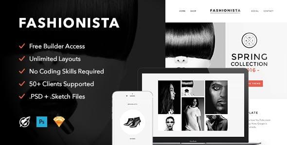 Fashionista v1.0 — Responsive Email + Themebuilder Access