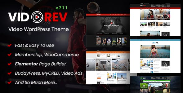 VidoRev v2.1.1 — Video WordPress Theme
