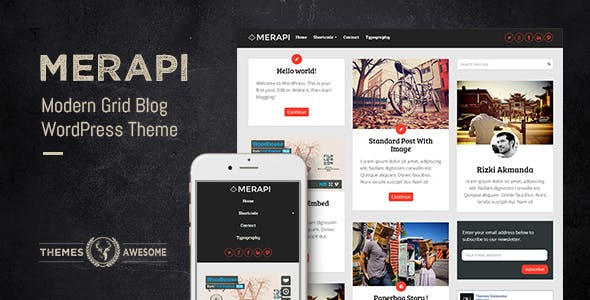Merapi v1.6 — Modern Grid Blog Theme
